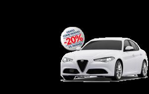 giulia bianco alfa 581x366 come nuovo 300x189 - Alfa Romeo Giulia 2.2 TURBO DIESEL 150 CV AT8 COME NUOVO