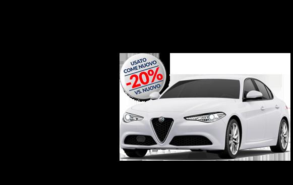 giulia bianco alfa 581x366 come nuovo - Alfa Romeo Giulia 2.2 TURBO DIESEL 150 CV AT8 COME NUOVO