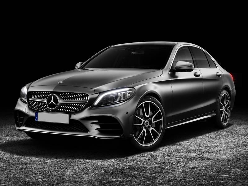 mb classe c sedan 2018 front view black - Mercedes Benz Classe C 180 D EXECUTIVE